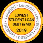Lowest Student Loan Debt in MD, 2019