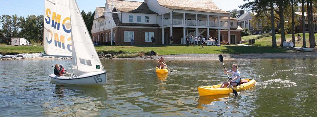 SMCM waterfront sailing and kayaking