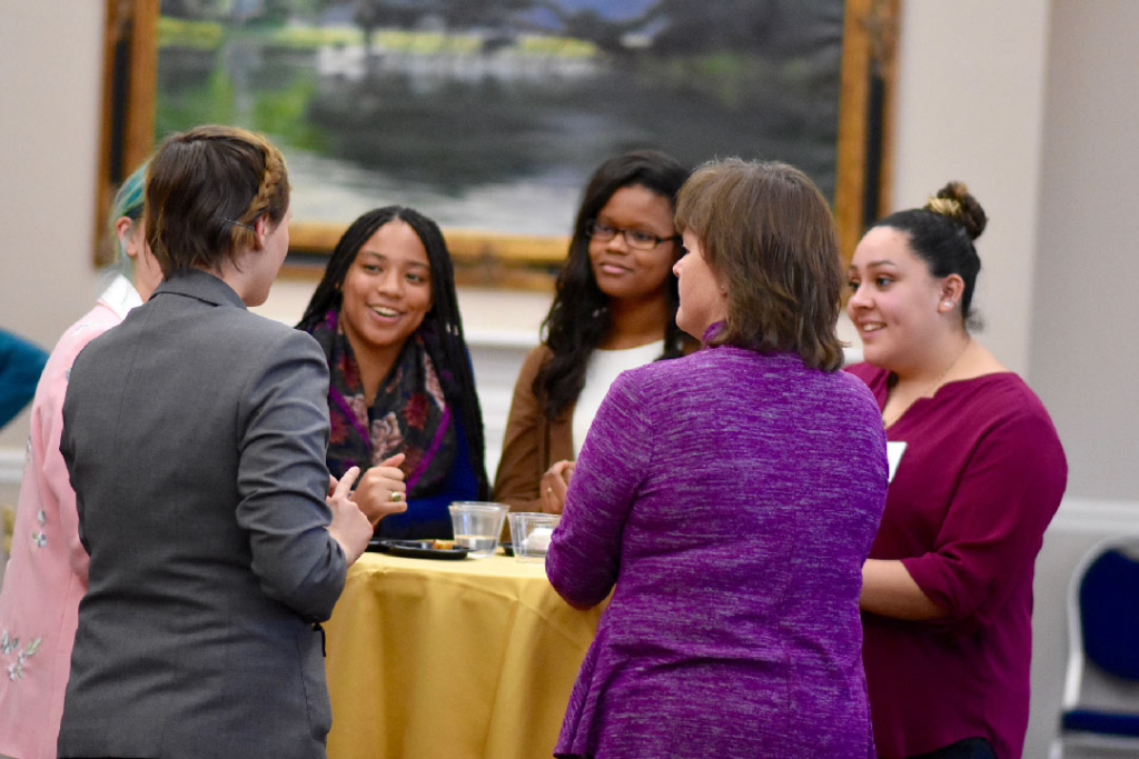 2018 Bookbag to Briefcase Reception, SMCM students, alumni, and working professionals
