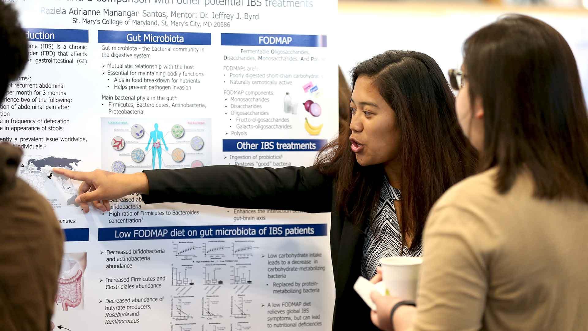 SMCM student presenting capstone project
