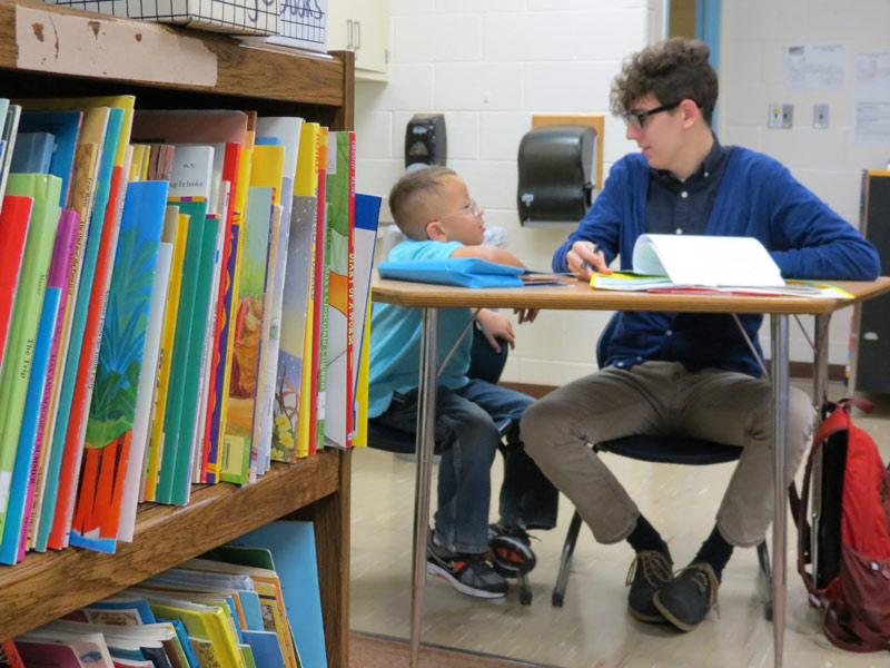 MAT student working with child