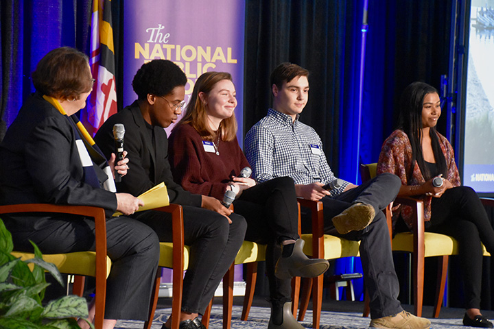 Student Life panelists answer audience questions on stage