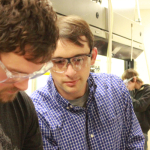 Troy Townsend in a lab with student
