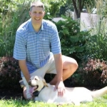 Jared Marmen with dog