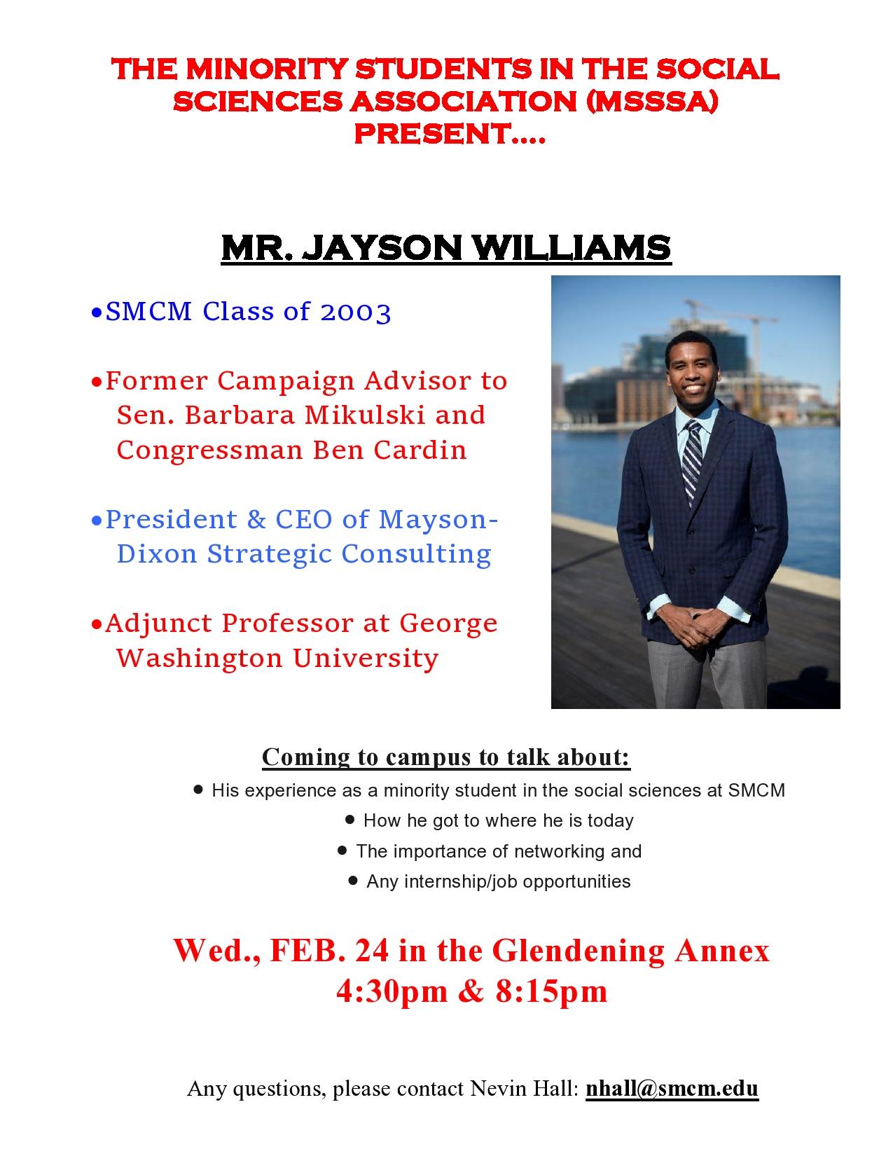 Jayson Williams MSSSA poster