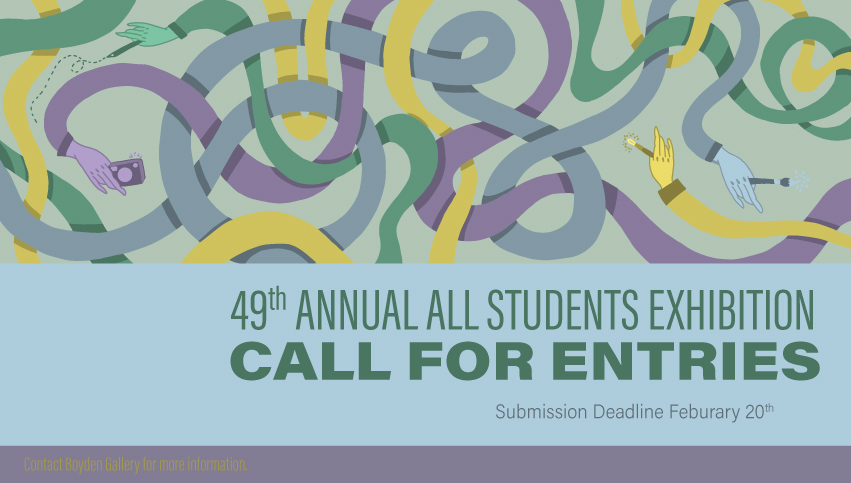 49th Annual All Students Call for Entries poster