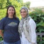 Christy Lewis, left , with visiting researcherMaryam Hakim Elahi