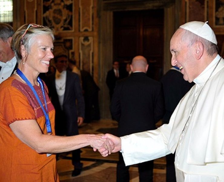 katharina-von-kellenbach-meets-pope-francis