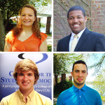William Donald Schaefer 2015 Internship Program Winners: Sara Eaton, Terrance Thrweatt, Brendan Benge, and Michael Abrams