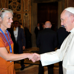 SMCM Professor meets Pope Francis