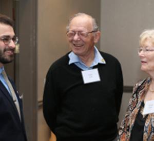 Gabriel Rubinstein, SMCM Alumnus, Egon Frech and Roxanna Summers, CSD Advisor