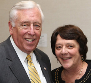 Hon. Steny Hoyer and Professor Helen Daugherty, Deputy-Chair of the forum.