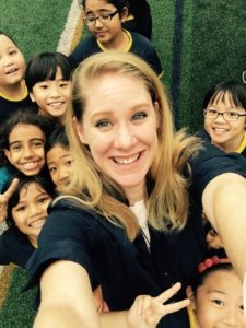 Miranda Paul with kids
