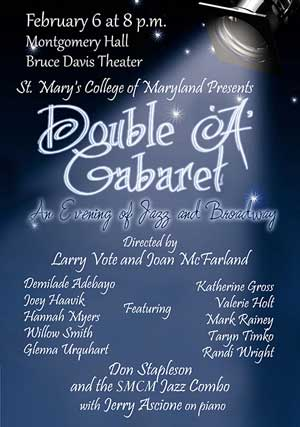 """Double """"A"""" Cabaret is a performance of American standards by talented SMCM student s."""