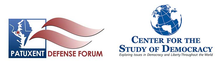 Patuxent Defense Forum and Center for the Study of Democracy Logos