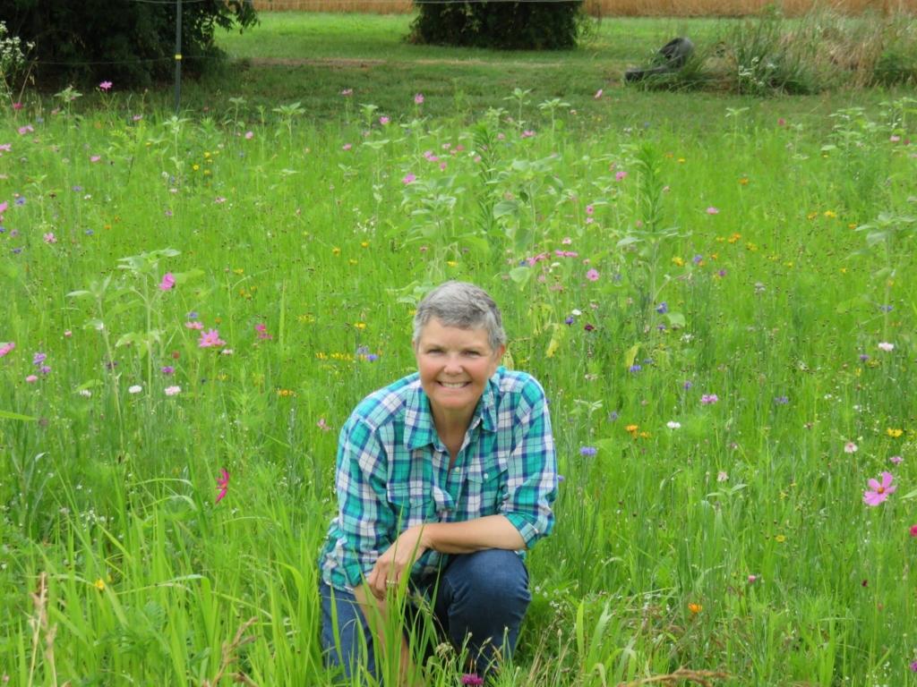 Kate Chandler in woldflowers