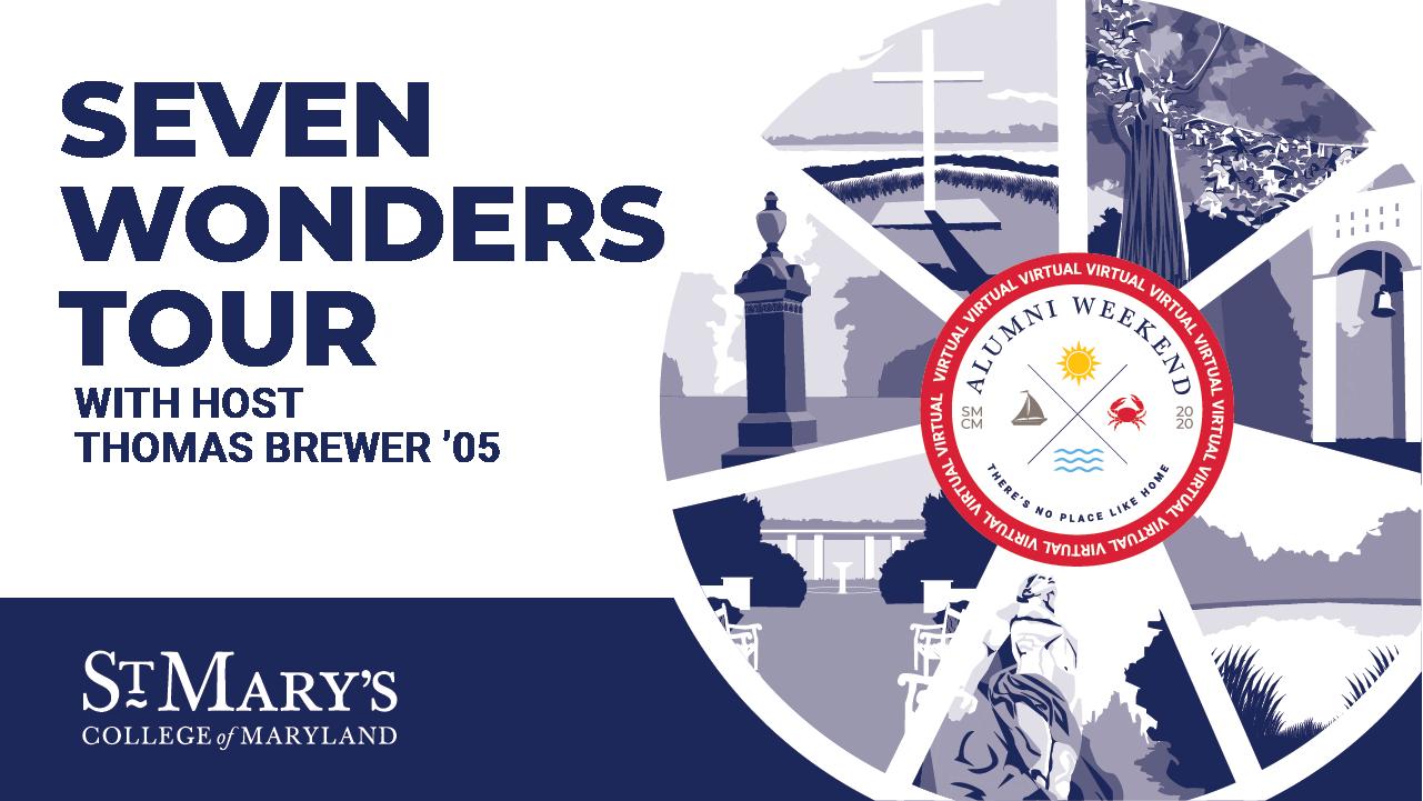 Seven Wonders Tour graphic illustration