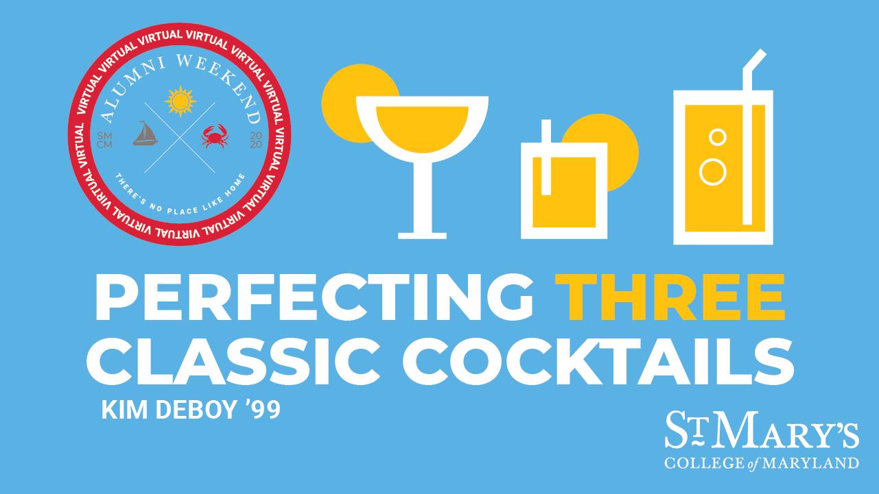 Perfecting Three Classic Cocktails graphic illustration