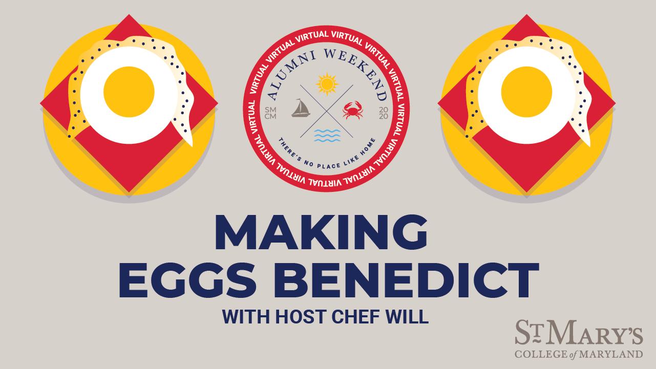 Making Eggs Benedict graphic illustration
