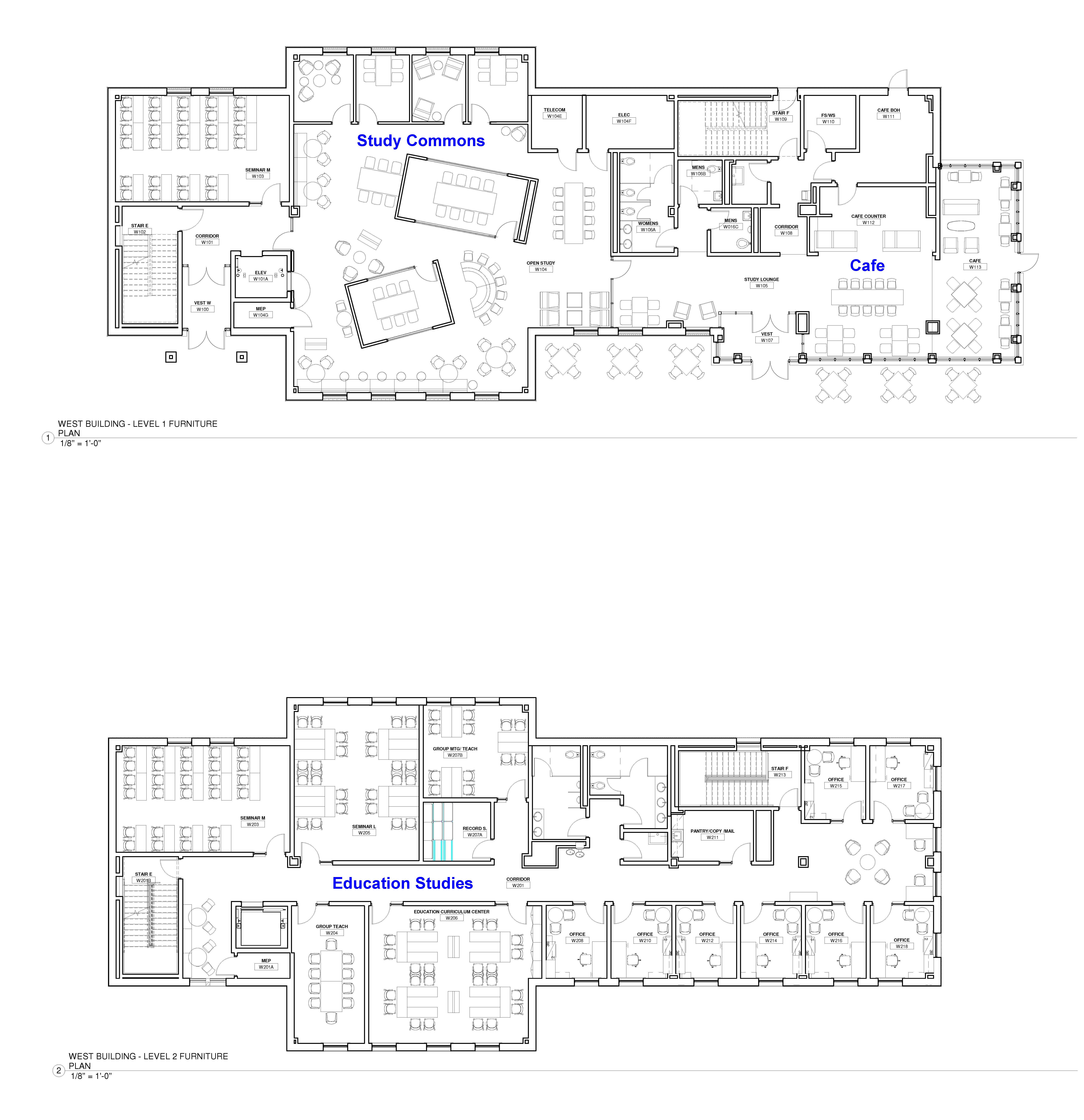Floor Plan for the New Academic Building and Auditorium