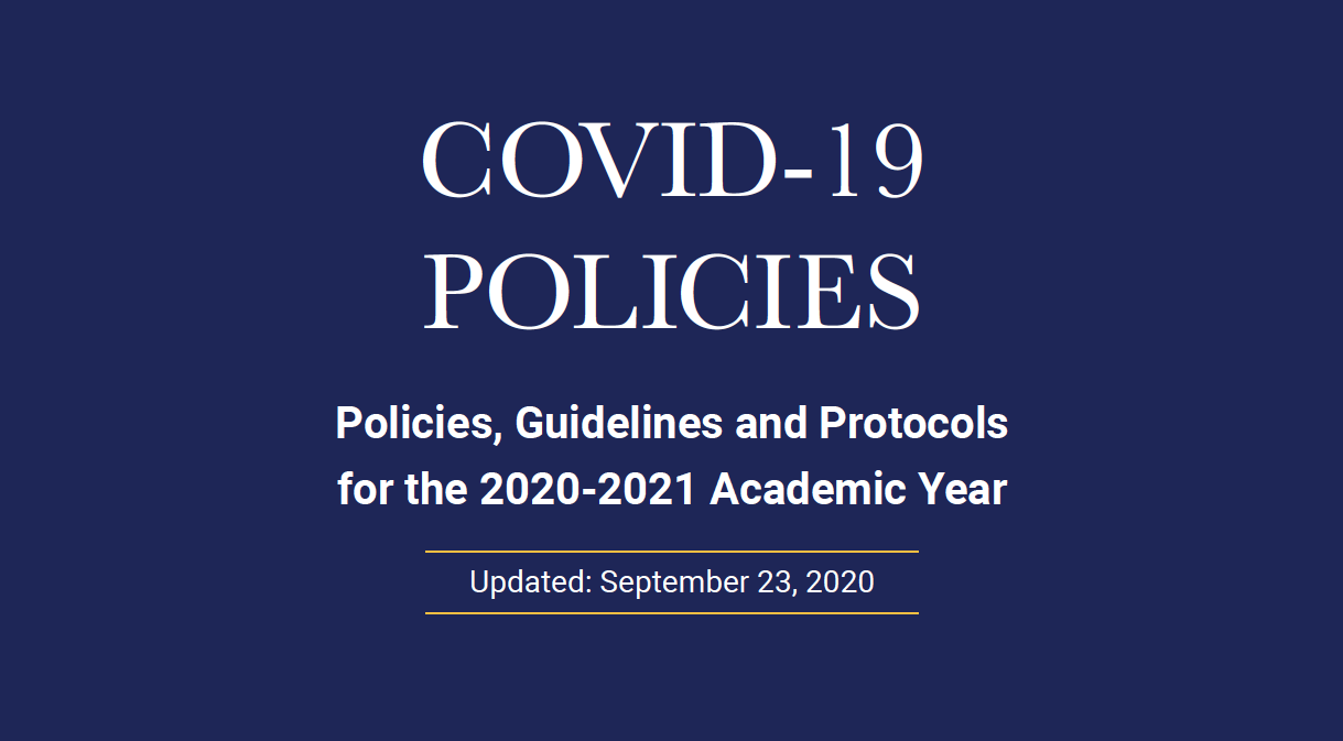 COVID-19 Policies, cover graphic