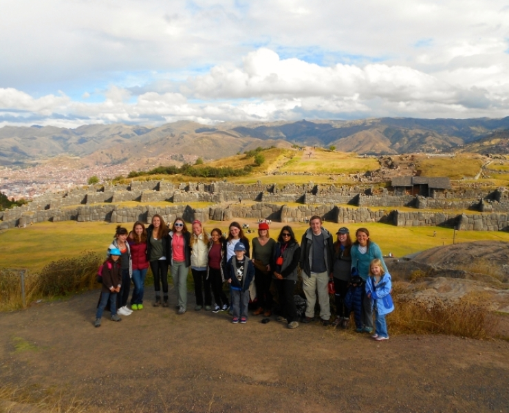 Students on a trip in Peru