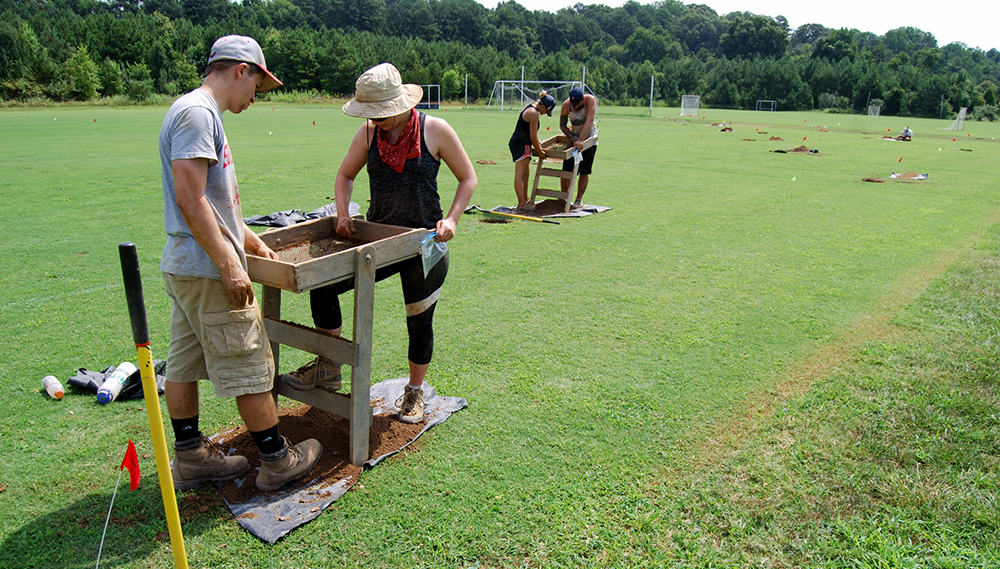 Dr. King's team excavates the site of enslaved peoples' quarters
