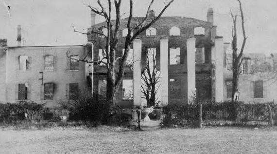 smcm calvert hall after fire 1924