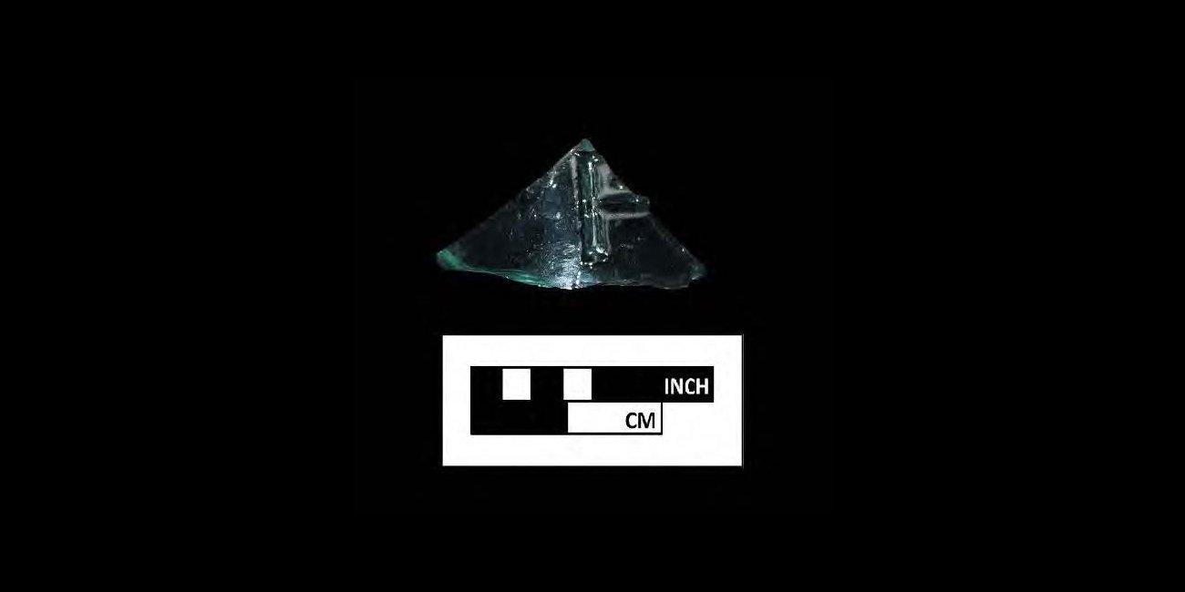 Embossed aqua container glass-black