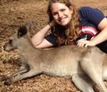Student with a kangaroo