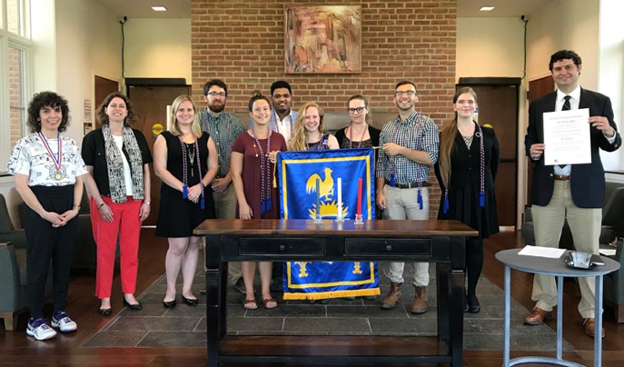 In Spring 2017, St. Mary's College of Maryland inaugurated the college's first ever chapter of Pi Delta Phi, the National French Honor Society.