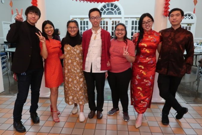 Students dress up for Lunar New Year photo