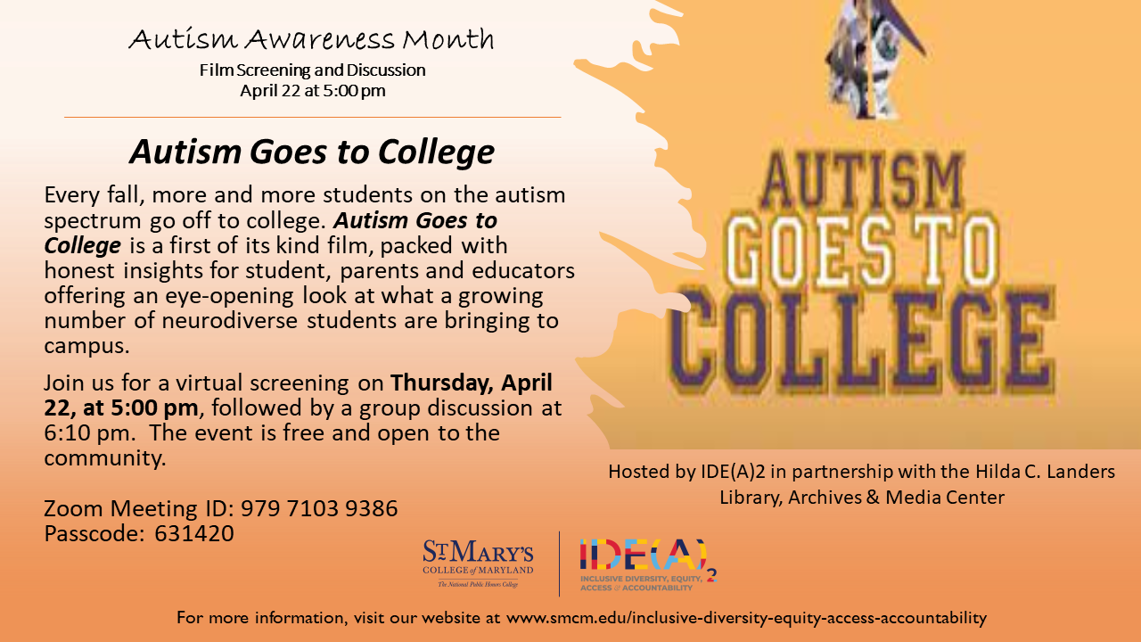 Autism Goes to College Flyer