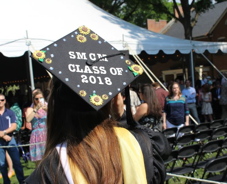 Student entering commencement