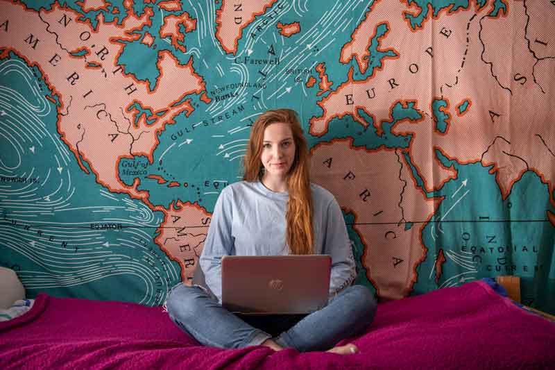 Rachel Yates in the dorms