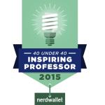 """Barrett Emerick Named to List of """"40 Under 40: Professors Who Inspire"""""""
