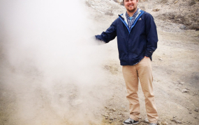 St. Mary's College student Bobby Condrey at the Phlegrean Fields near Pompeii.