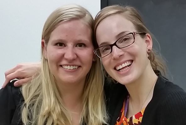 Alice Mutter with her faculty mentor, Diana Boros
