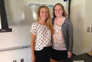 Lauren Schoene with her faculty mentor, Renée Dennison