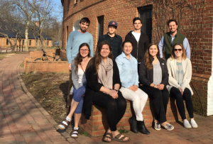 Top Row, L to R: Matthew Jeffers ('17), Michael Connaughton ('17), Luke Barber ('17) Barry Muchnick (Faculty Advisor) Front Row, L to R: Elizabeth Kontos ('18), Caroline Spath ('17), Sarah Fellerman ('18), Allison Graf ('17), Lauren O'Connell ('17)