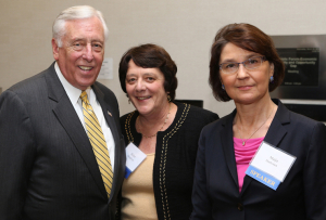 Left to right: Hon. Steny Hoyer; Helen Daugherty, professor of sociology, forum co-director and moderator; Maija Harkonen, executive director, Center for the Study of Democracy, forum chair