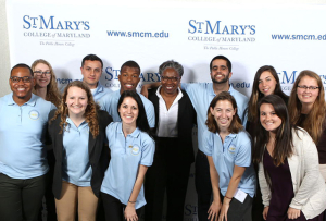 President Jordan and the Center's student ambassadors