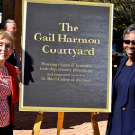 Courtyard Named in Honor of Board Trustee Gail Harmon