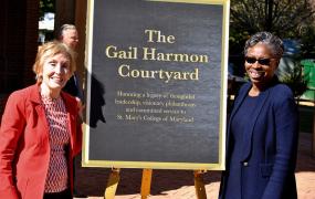 Courtyard Named in Honor of Board Trustee Gail Harmon