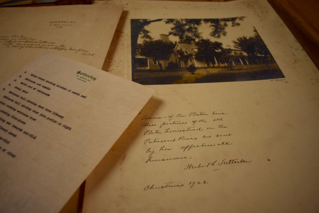 excerpts from a photo album in Sotterley's archive collection