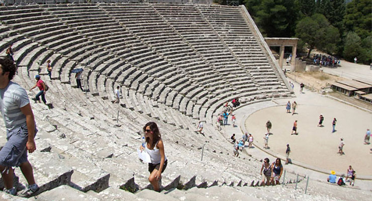 Greece study tour amphitheater