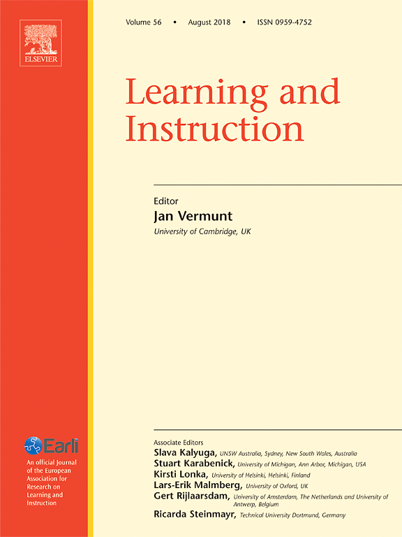 Foster Publishes In Learning And Instruction Psychology