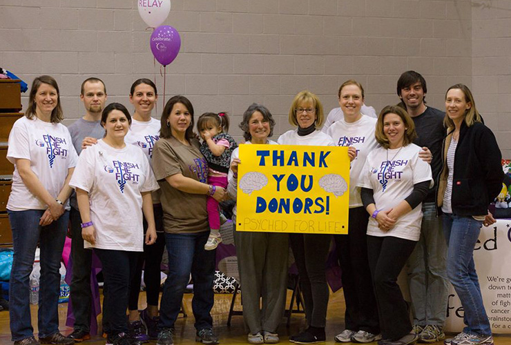 Faculty and Staff participating in Relay 4 Life