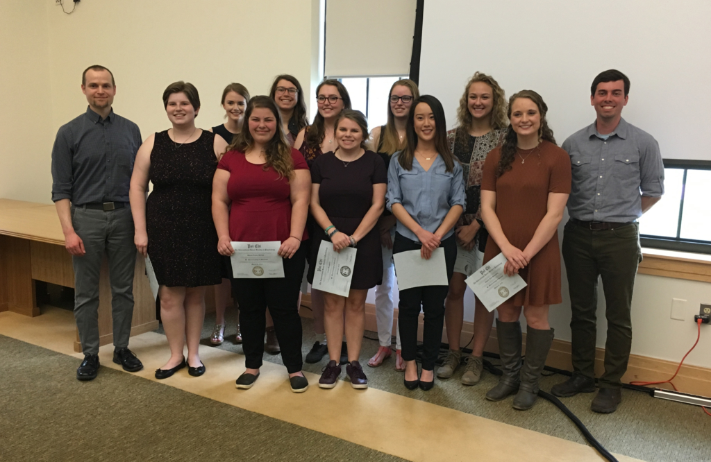 Psi Chi Inductees and Mentors