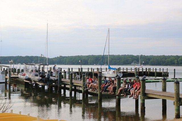 image of students at the smcm dock